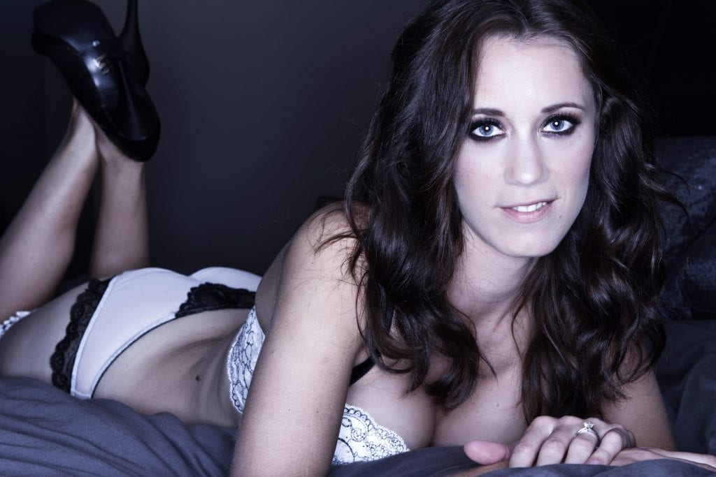 Ms. J during her on location boudoir shoot